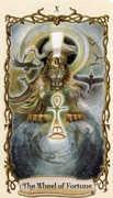 Wheel of Fortune Tarot card in Fantastical Creatures deck