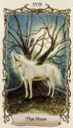 The Moon Tarot card in Fantastical Creatures deck