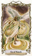 Six of Wands Tarot card in Fantastical Creatures deck