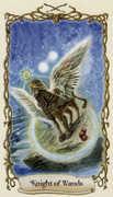 Knight of Wands Tarot card in Fantastical Creatures Tarot deck