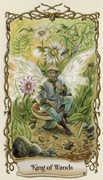 King of Wands Tarot card in Fantastical Creatures Tarot deck