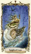 Knight of Cups Tarot card in Fantastical Creatures Tarot deck