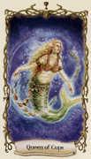 Queen of Cups Tarot card in Fantastical Creatures Tarot deck
