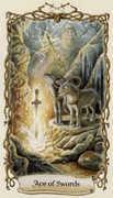 Ace of Swords Tarot card in Fantastical Creatures Tarot deck