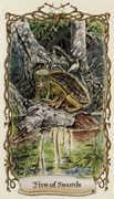 Five of Swords Tarot card in Fantastical Creatures deck
