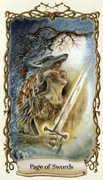 Page of Swords Tarot card in Fantastical Creatures Tarot deck
