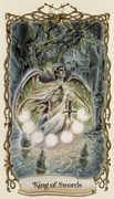 King of Swords Tarot card in Fantastical Creatures deck