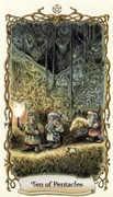 Ten of Pentacles Tarot card in Fantastical Creatures deck