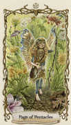 Page of Pentacles Tarot card in Fantastical Creatures deck