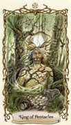 King of Pentacles Tarot card in Fantastical Creatures deck