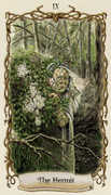 The Hermit Tarot card in Fantastical Creatures deck