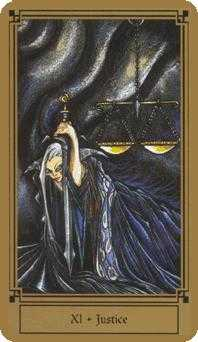 Justice Tarot Card - Fantastical Tarot Deck