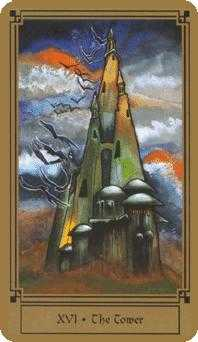The Falling Tower Tarot Card - Fantastical Tarot Deck