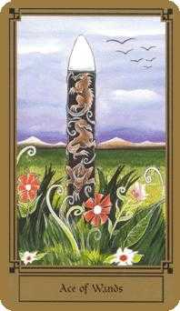 Ace of Wands Tarot Card - Fantastical Tarot Deck