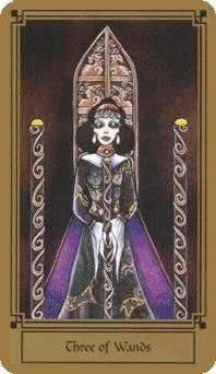 Three of Staves Tarot Card - Fantastical Tarot Deck