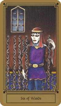 Six of Rods Tarot Card - Fantastical Tarot Deck