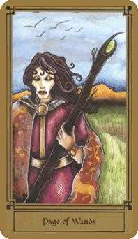 Page of Rods Tarot Card - Fantastical Tarot Deck