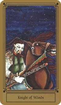 Knight of Batons Tarot Card - Fantastical Tarot Deck