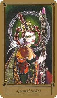 Queen of Staves Tarot Card - Fantastical Tarot Deck