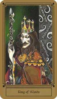 King of Batons Tarot Card - Fantastical Tarot Deck