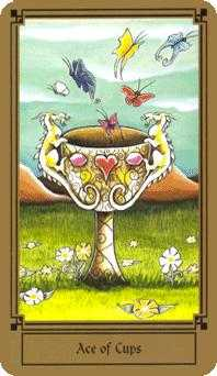 Ace of Bowls Tarot Card - Fantastical Tarot Deck