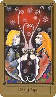Two of Hearts Tarot Card - Fantastical Tarot Deck