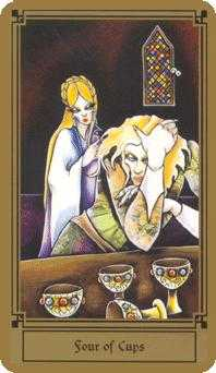 Four of Cups Tarot Card - Fantastical Tarot Deck