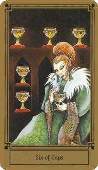 Six of Cauldrons Tarot Card - Fantastical Tarot Deck