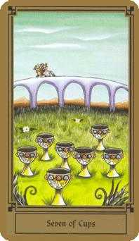 Seven of Cauldrons Tarot Card - Fantastical Tarot Deck
