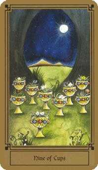 Nine of Cups Tarot Card - Fantastical Tarot Deck