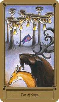 Ten of Hearts Tarot Card - Fantastical Tarot Deck