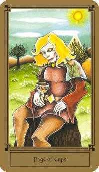 Daughter of Cups Tarot Card - Fantastical Tarot Deck
