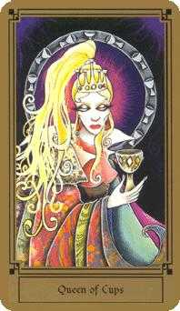 Reine of Cups Tarot Card - Fantastical Tarot Deck