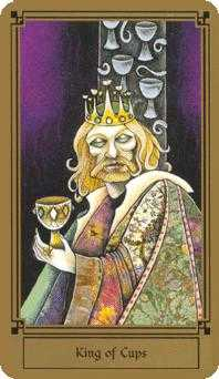 King of Cauldrons Tarot Card - Fantastical Tarot Deck