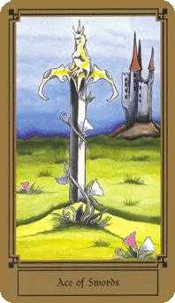 Ace of Swords Tarot Card - Fantastical Tarot Deck