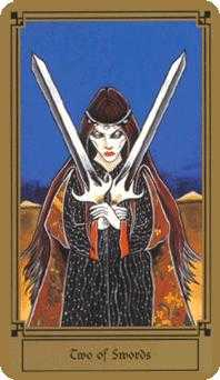 Two of Arrows Tarot Card - Fantastical Tarot Deck