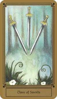 Three of Swords Tarot Card - Fantastical Tarot Deck