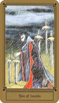Five of Wind Tarot Card - Fantastical Tarot Deck