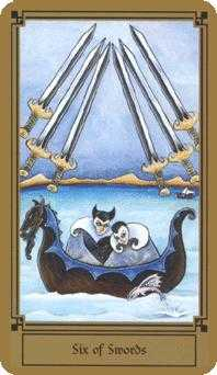 Six of Swords Tarot Card - Fantastical Tarot Deck