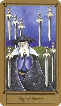 Eight of Swords Tarot Card - Fantastical Tarot Deck
