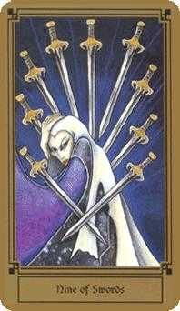 Nine of Arrows Tarot Card - Fantastical Tarot Deck