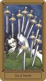 Ten of Swords Tarot Card - Fantastical Tarot Deck