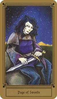 Page of Spades Tarot Card - Fantastical Tarot Deck