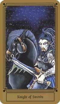 Cavalier of Swords Tarot Card - Fantastical Tarot Deck