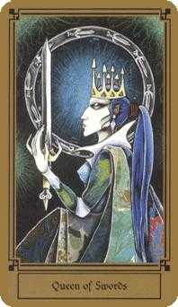 Priestess of Swords Tarot Card - Fantastical Tarot Deck