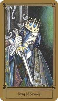 Roi of Swords Tarot Card - Fantastical Tarot Deck