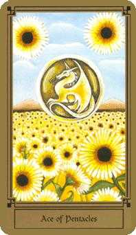 Ace of Discs Tarot Card - Fantastical Tarot Deck