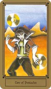 Two of Pentacles Tarot Card - Fantastical Tarot Deck