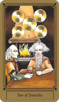 Five of Pentacles Tarot Card - Fantastical Tarot Deck