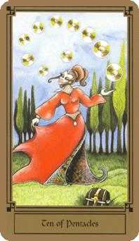 Ten of Coins Tarot Card - Fantastical Tarot Deck